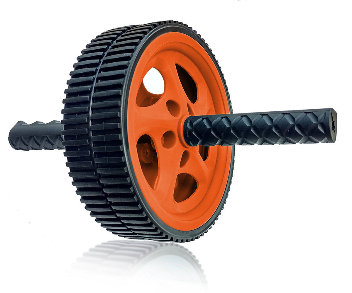 Power Wheel Roller for Abs, Abdominal Roller Workout Exercise – Orange Abdominal Exercisers
