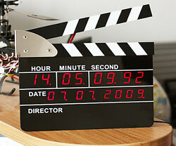Film Director Action Board LED Digital Alarm Clock Big Size Novelty Desk Decor