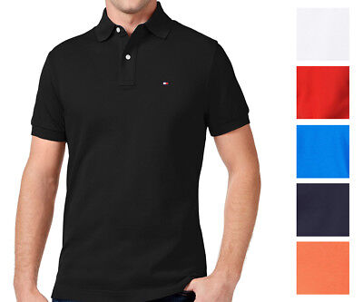 Tommy Hilfiger NEW Custom Fit Men's Solid Short Sleeve Pique Polo Shirt