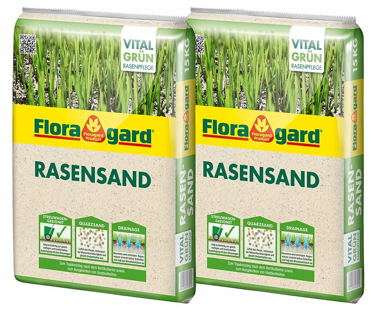 30 kg (2x15 kg) Floragard Rasensand Rasenpflege Rasen Sand Gartensand