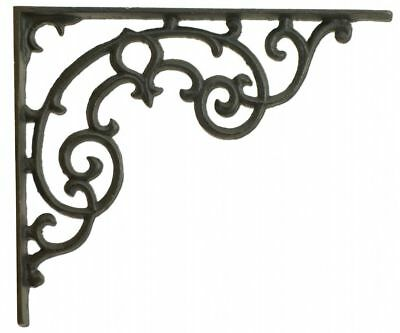 Wall Shelf Bracket Ornate Cast Iron Brace DIY Craft Custom Shelves 11.25