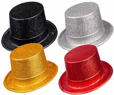 ts Fancy Dress Party Prop Ringmaster Clown Fancy Dress (Glitter Top Hat)