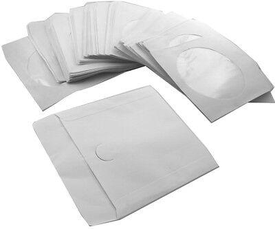 1000 x CD DVD Papier Hüllen Hülle Blu-Ray mit Sichtfenster/Lasche 1fach Case Box