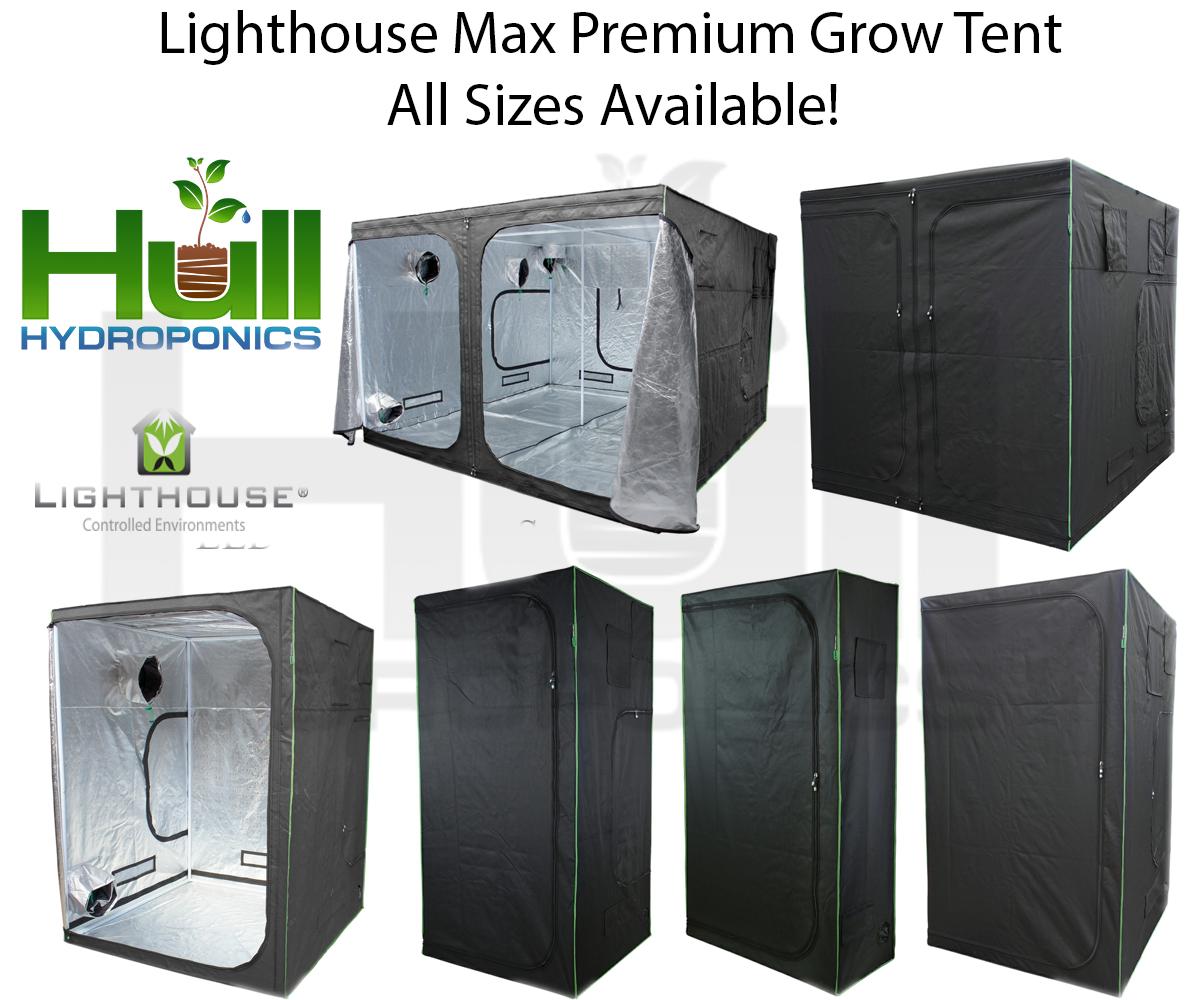 Main Description. Lighthouse Max Grow Tent  sc 1 st  eBay & LIGHTHOUSE MAX Premium Portable Grow Tent Green Room Silver Mylar ...
