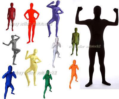 Bright tight Lycra Spandex 2nd Skin Catsuit Halloween Zentai Costumes unitard
