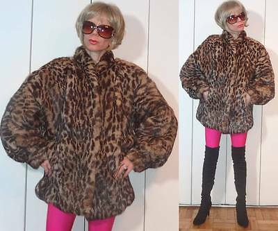 Pristine VTG POLO NORTE FURS Luxurious Leopard Cheetah Rabbit COAT Jacket U L XL
