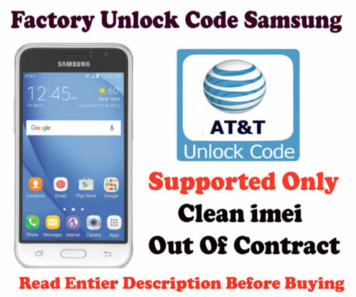 SAMSUNG Galaxy Express Prime SM-J320A SM J120A Prime 2 SM-J327A UNLOCK CODE AT&T