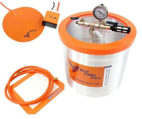 Vacuum Chamber / Degassing Pot - Aluminum 3 Gallon