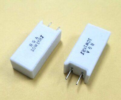 Lot Of 2 1k Ohm 10 Watt 5 Vertical Power Resistors Sqma 10w1krj