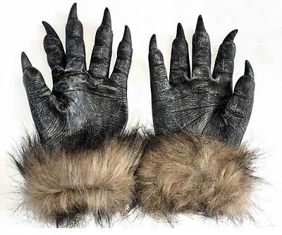 Halloween Monster Hands (Unisex Monster Wolf Paws Claws Hands Gloves Halloween Creepy Costume Party)