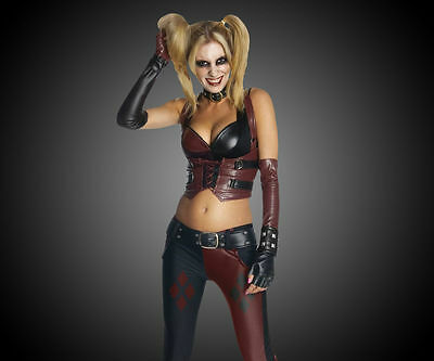 Harley Quinn Costume Halloween Adult Batman Arkham City - Harley Quinn Arkham City Halloween Kostüm