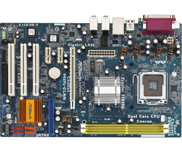 ASRock ConRoe945PL-GLAN  LGA775 Socket   Intel Motherboard