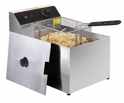 2500W Deep Fryer Electric Commercial Tabletop Restaurant Frying W  Basket Scoop