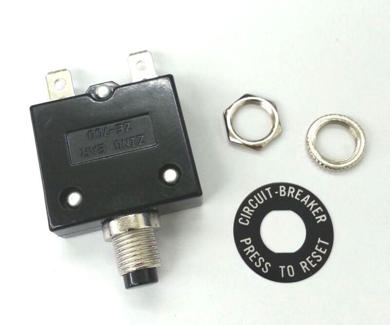 NEW 20 Amp Pushbutton Circuit Breaker  ~ Zing Ear ZE-700-20 20A