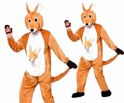 Känguru + Baby Joey Maskottchen Kostüm Zoo Tier Kostüm Australisch Erwachsene Känguru Baby Kostüm
