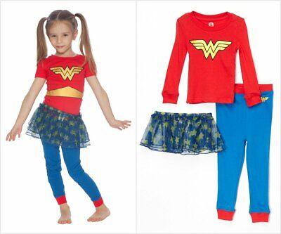 NWT DC Comics Wonder Woman Girls Tutu Pajamas Set 2T 3T 4T 5T - Wonderwoman Tutu