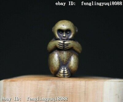 Bronze Lucky Chinese One Of The Zodiac Signs Animal Monkey Wealth Statue M276 Chinese Zodiac Animal Signs