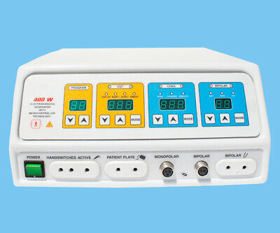 Latest 400 Watt Generator Electrosurgical Bipolar Cautery Pure Cut Coagulation