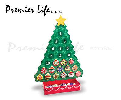 Wooden Advent Calendar - Melissa & Doug Countdown to Christmas 13571