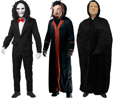 MENS HALLOWEEN COSTUME CHOOSE FROM SCARY FILM CHARACTER FANCY DRESS EVIL PUPPET