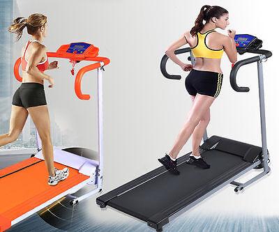 Goplus 500W Folding Electric Treadmill Portable Motorized Running Machine Black