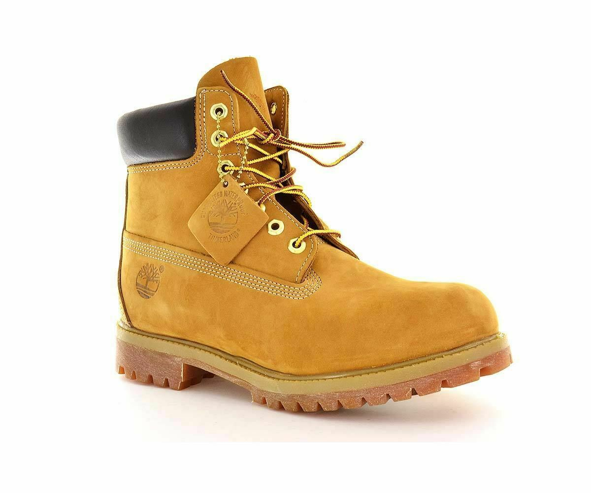 "TIMBERLAND MEN'S 6""PREMIUM WATERPROOF LEATHER BOOT WHEAT 10061100% Authentic"