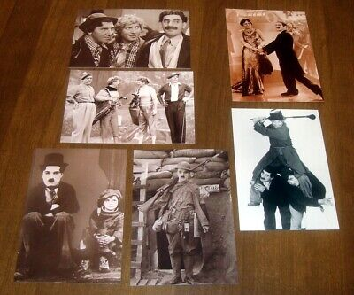 NEW 6 unused Marx Brothers I Love Lucy Charlie Chaplin Postcard LOT Copyrighted