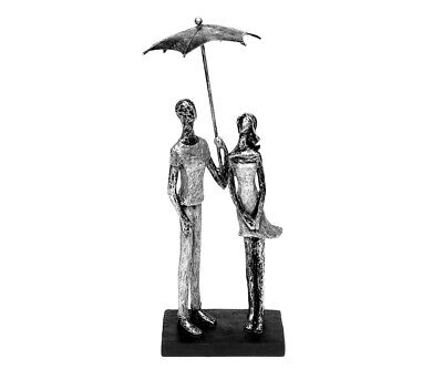 Abstracto Esculturas con Paraguas Pareja de Amantes Figura Decorativa Parejita