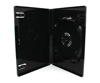 100 x 6 Fach AMARAY DVD Hüllen für 1 - 6 CD DVD Blu-Ray Hülle 14mm | Schwarz