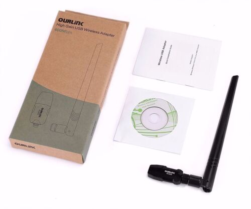 New 600Mbps Dualband USB WiFi Adapter dongle Wireless Network Lan Card Antenna Computers/Tablets & Networking