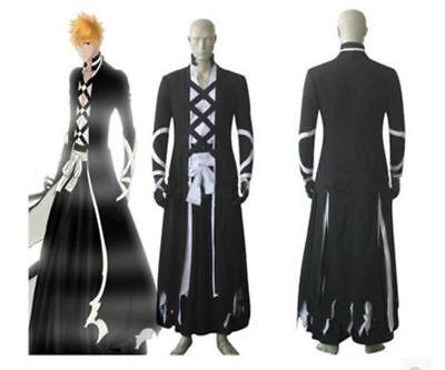 Bleach Ichigo Kurosaki New Bankai cosplay costume outfit Halloween Cloak {S]
