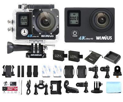 4K Action Camera Wimius 16MP Ultra FHD Dual Screen WiFi Waterproof Sport dv CAM