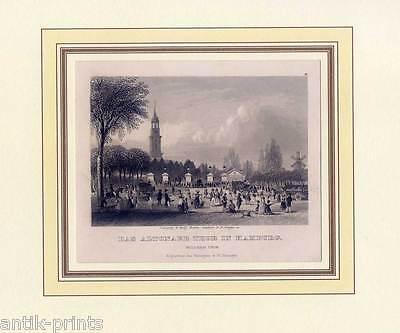Hamburg - Altona - Stahlstich von Payne 1840