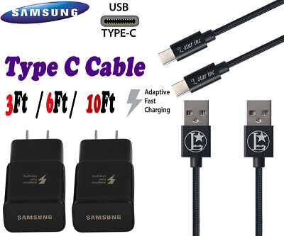 3/6/10Ft Fast Charger Type C USB-C Cable Cord For OEM Samsung Galaxy S10 S9 S8