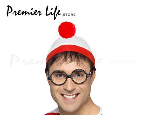 Where's Wally Instant Kit with Hat and Glasses - Fancy Dress Costume