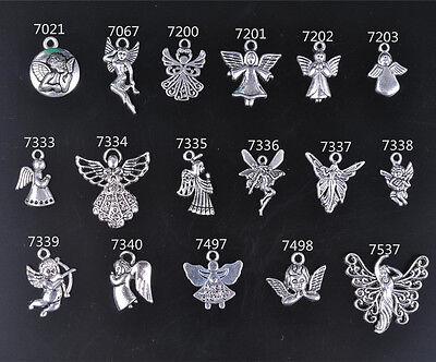 Charm Silver Angel Fairies Girl Cupid Tibetan DIY Jewelry Making Necklace Charms