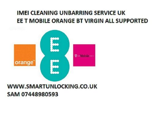 (cleaning) T MOBILE EE UK IPHONE UNBARRING IPHONE SAMSUNG HUAWEI ALL MODELS