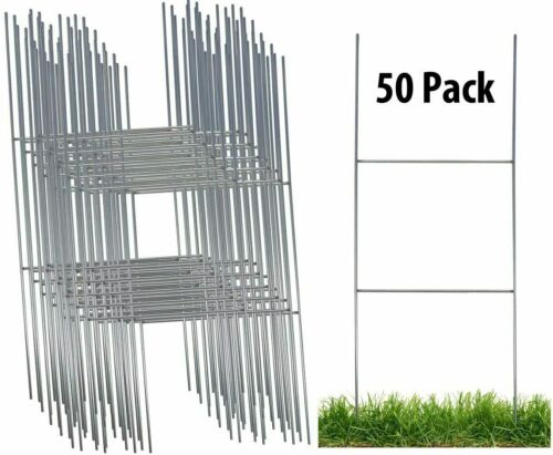 Sturdy Metal H Frame Wire Step Stakes for Yard Signs(8 x 23 inch)(Stakes Only)