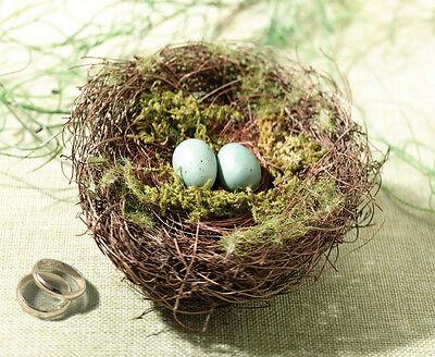 Beautiful New Wedding Ring Holder -  Moss Bird Nest Ring Holder - Ring Cushion