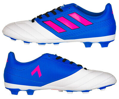 Adidas ACE 17.4 FxG Football Boots Girls Boys Kids Junior New Blue White New