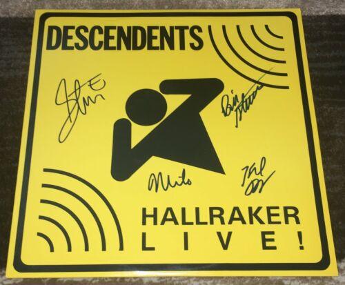 THE DESCENDENTS BAND SIGNED AUTOGRAPH HALLRAKER LIVE VINYL ALBUM w/EXACT PROOF