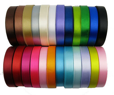 (25 YARDS) SATIN RIBBON roll craft xmas presents wedding party holiday gift - Present Ribbon