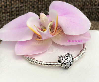 Pandora Poetic Blooms Charm, Bracelet Bead, Valentines Day Gift, New,#791825ENMX