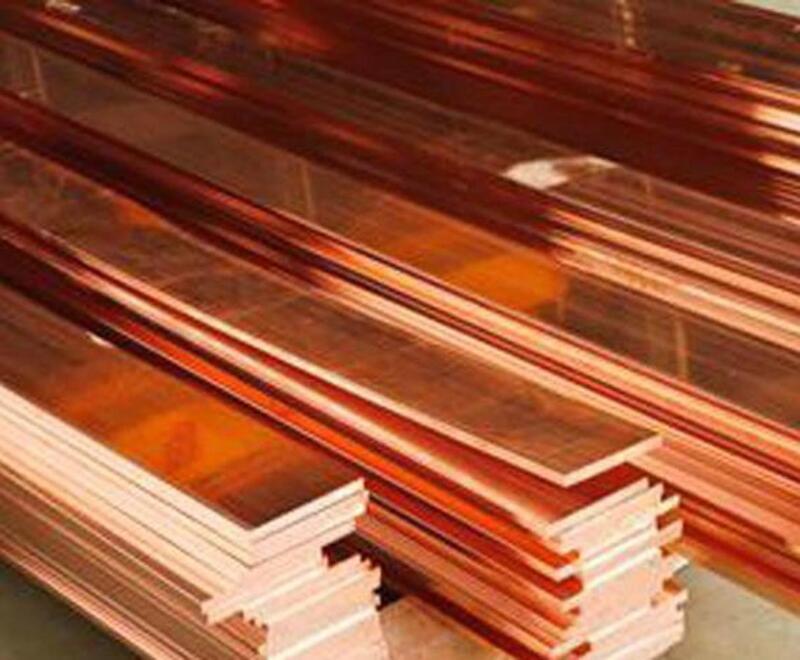 US Stock 4pcs 99% Copper T2 Cu Metal Flat Bar Plate 1.5mm x 10mm x 250mm
