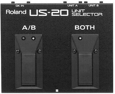 ROLAND Guitar Pedal US-20 Unit Selector for GK Switch Synthesizer Black NEW