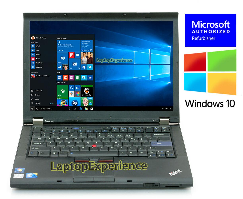 IBM LENOVO THINKPAD T410 LAPTOP WINDOWS 10 DVDRW Core i5 2.4Ghz 120GB SSD 4GB HD | eBay
