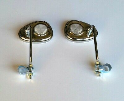 PAIR  CHROME REAR VIEW BICYCLE V CLUB MIRRORS Bicycle Accessories