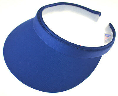 (Cotton Twill Clip-On Visor-royal blue)