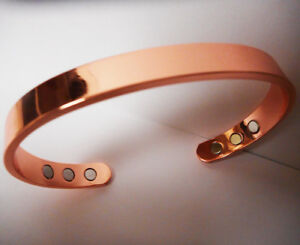 New Pure Copper Magnetic Bracelet Arthritis Therapy Energy MEN WOMEN CUFF +POUCH