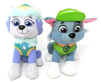 "Paw Patrol Plush Stuffed Figure Everest & Rocky Set 8"" Doll Kids Boys Girls Toy"